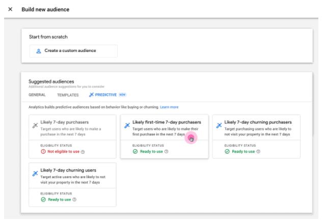 nuovi strumenti di previsione in google analytics